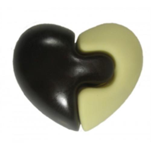 """Шоколадная фигура """"Сердце пазл"""""""