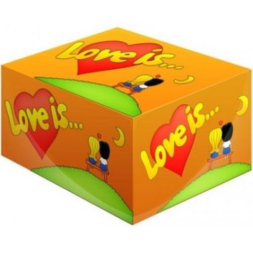 """Блок жвачек Love is — """"Апельсин-Ананас"""""""